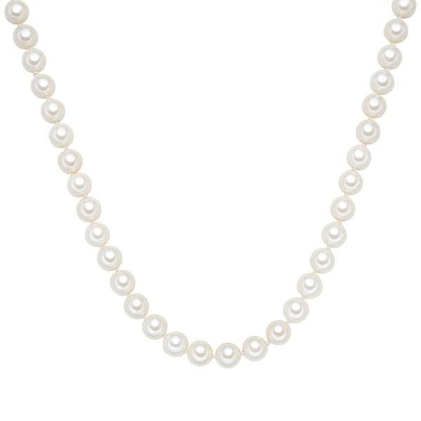Náhrdelník s bílými perlami ⌀10 mm Perldesse Muschel, délka 80 cm