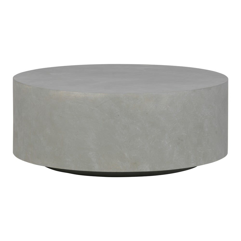 Šedý konferenční stolek z vláknitého jílu WOOOD Dean, Ø 80 cm