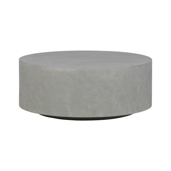 Šedý konferenční stolek z vláknitého jílu WOOOD Dean, Ø80cm