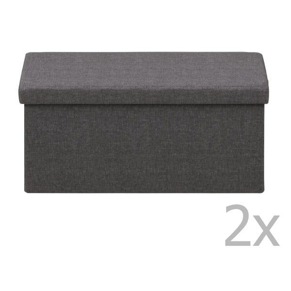 Tmavosivý úložný box Actona Sada, 80 × 40 × 40 cm