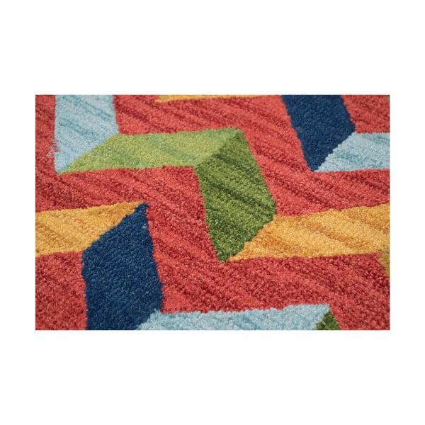 Vlněný koberec Wimbledon, 70x140 cm, červený