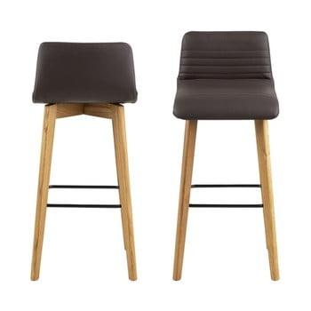 Set 2 scaune Actona Arosa, maro