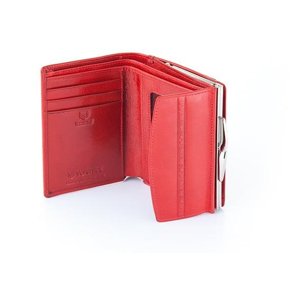 Kožená peněženka Valentini 131, červená