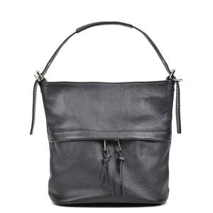 Černá kožená kabelka Luisa Vannini Romana