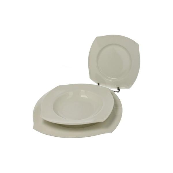 Porcelánová sada talířů Bianco, 18 ks