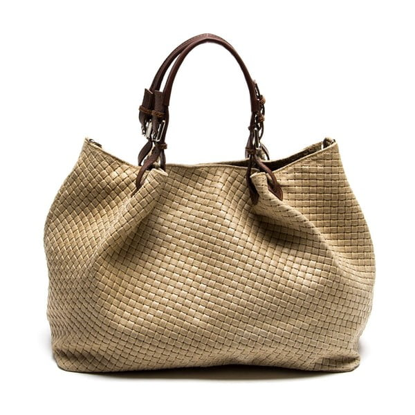 Kožená kabelka Isabella Rhea 8019 Fango