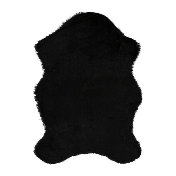 Černý koberec z umělé kožešiny Pelus Black, 75 x 100 cm