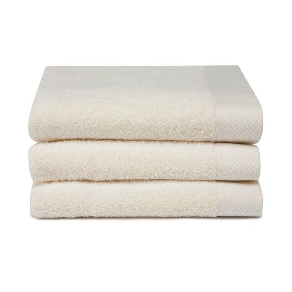 Sada 3 krémových uterákov Seahorse Pure, 60×110cm