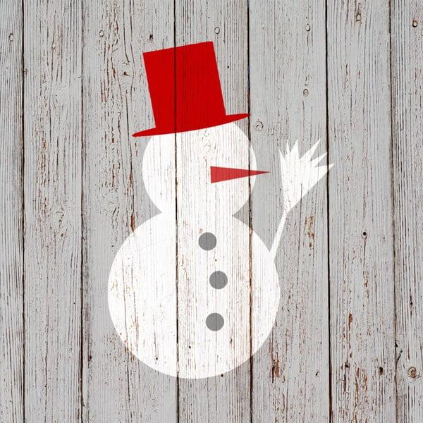 Balenie 10 papierových obrúskov s vianočným motívom PPD Snowman On Wood