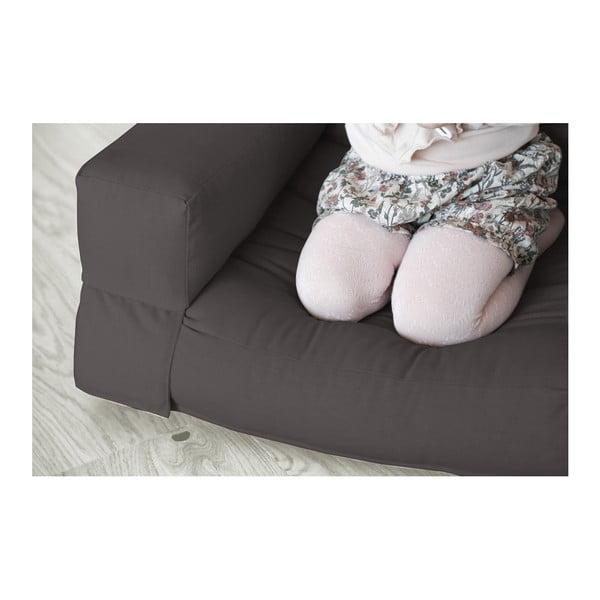 Tmavě šedé dětské rozkládací křesílko Karup Mini Hippo