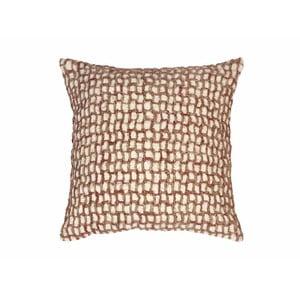 Béžový vzorovaný polštář ZicZac Mozaik, 45x45cm