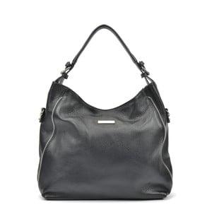 Černá kožená kabelka Mangotti Cassie