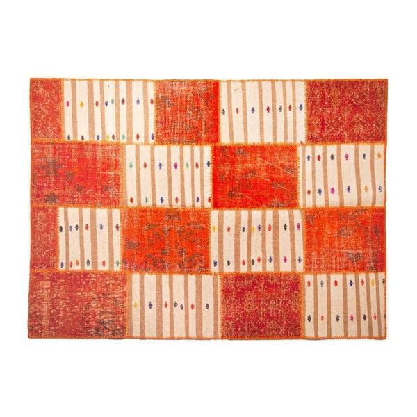 Vlněný koberec Allmode Orange Kilim, 150x80 cm