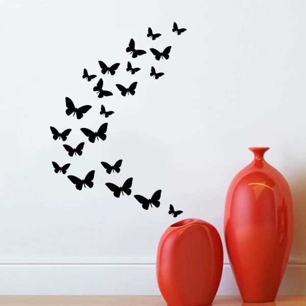 Vinylová samolepka na stěnu Motýlí rej