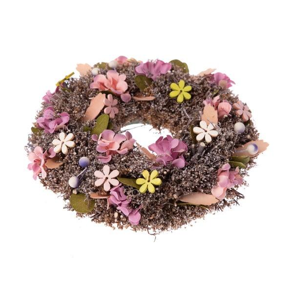 Závěsný věnec s květinami Dakls Trissa, ⌀ 18 cm