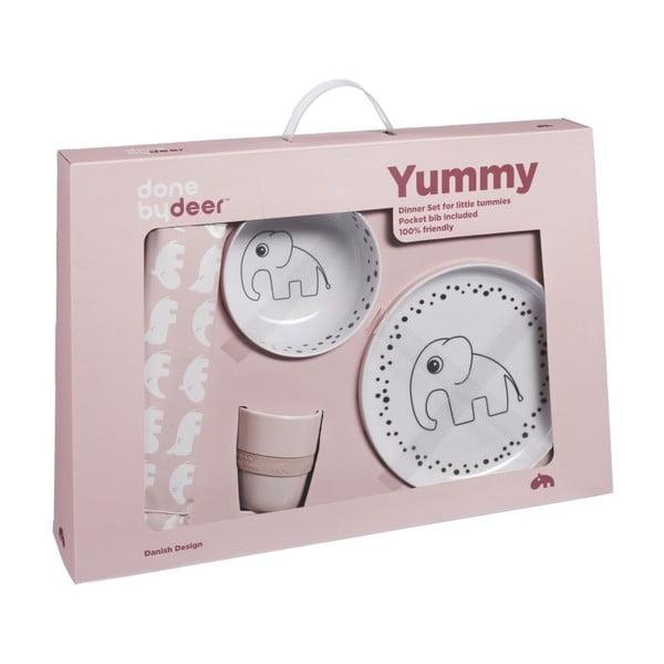 Jídelní dětský set Happy Dots, růžový