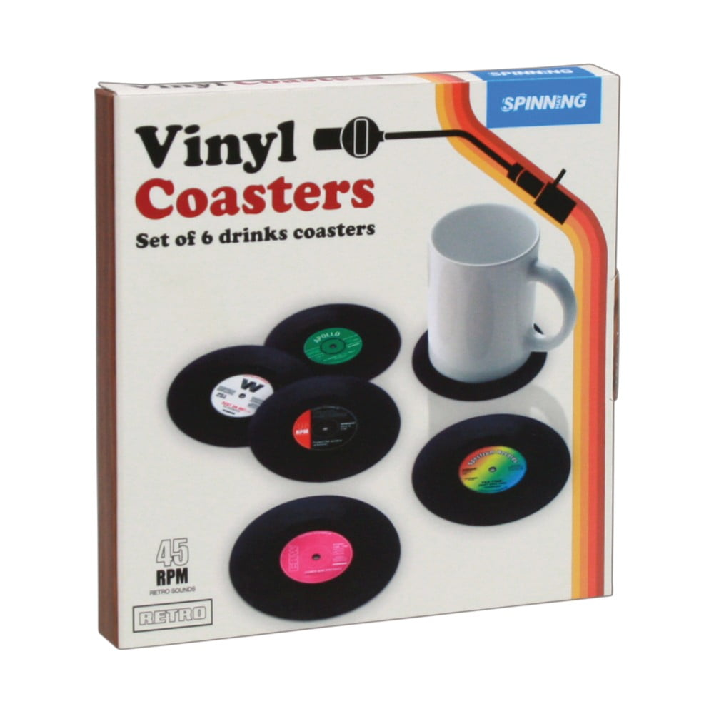 Sada 6podtácků Gift Republic Retro Vinyl