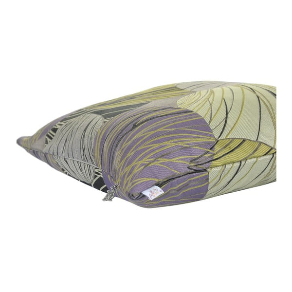 Šedozelený povlak na polštář Apolena Lina, 43 x 43 cm