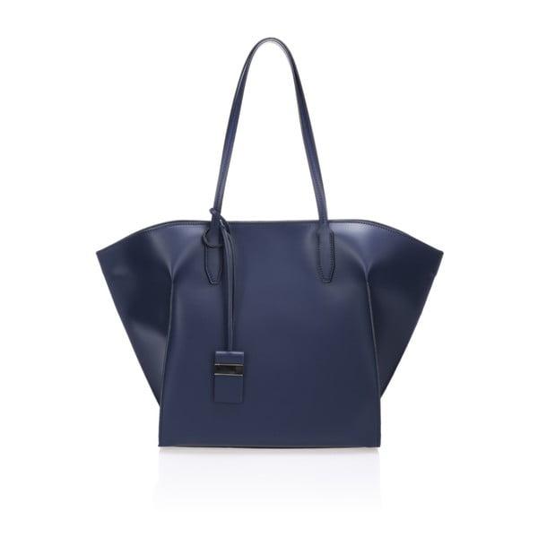 Tmavě modrá kožená kabelka Giulia Massari Latina