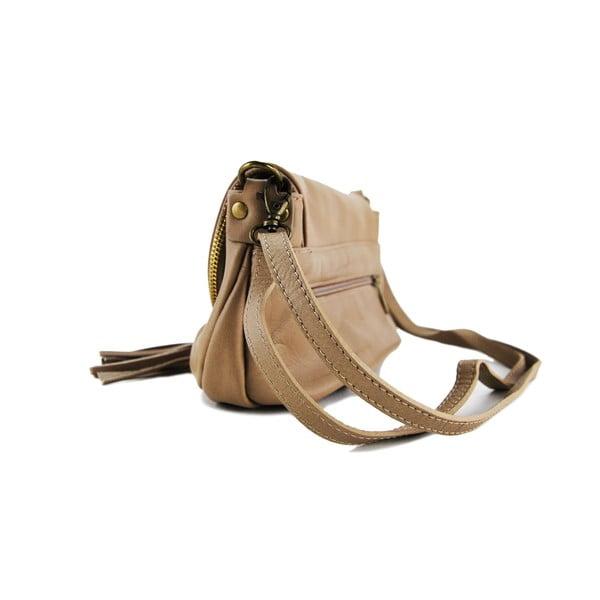 Kožená kabelka Clementis Taupe