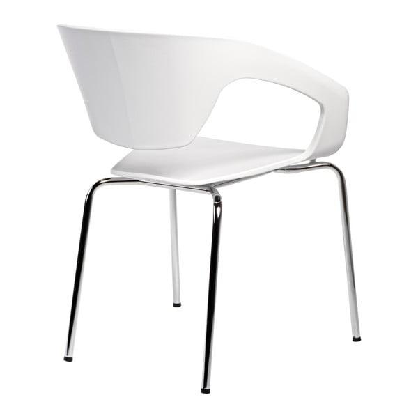 Sada 2 bílých židlí D2 Space