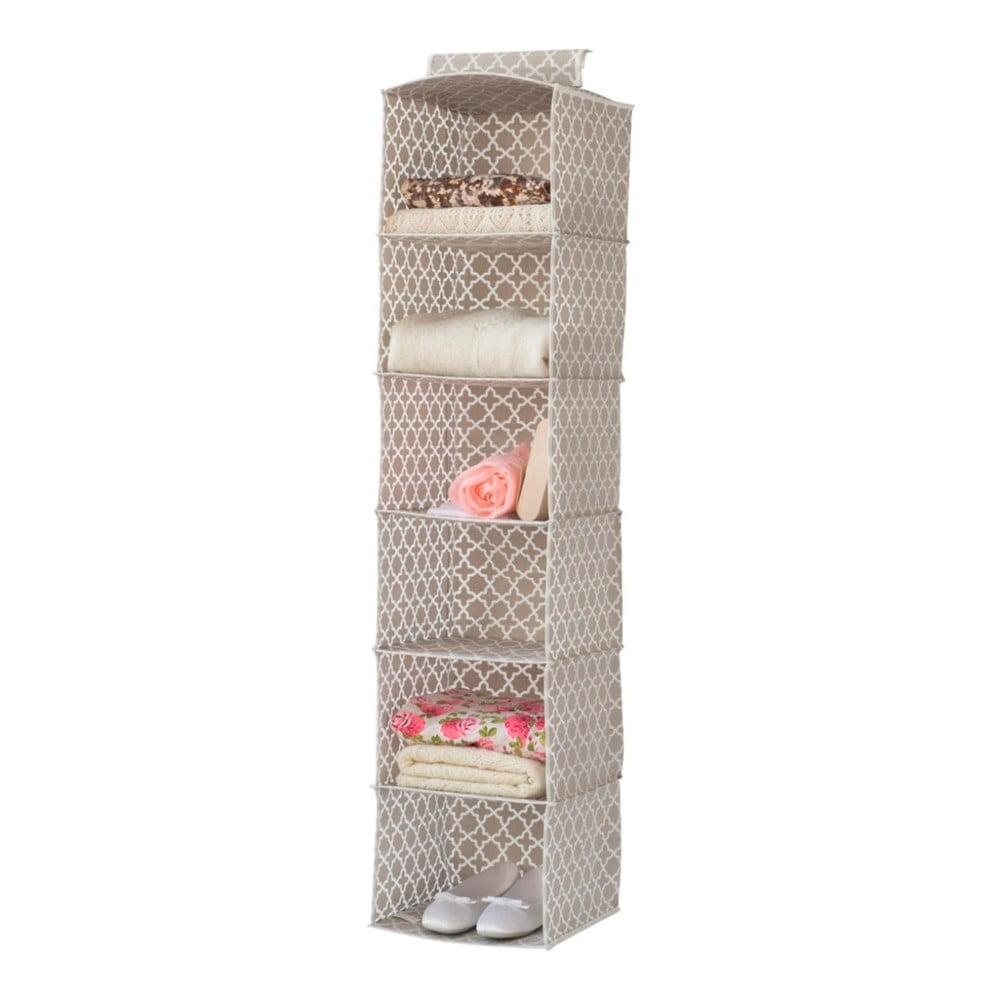 Béžový závěsný organizér do šatní skříně Compactor, šířka 30 cm