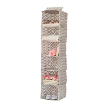 Organizator pentru dulap Compactor, lățime 30 cm, bej