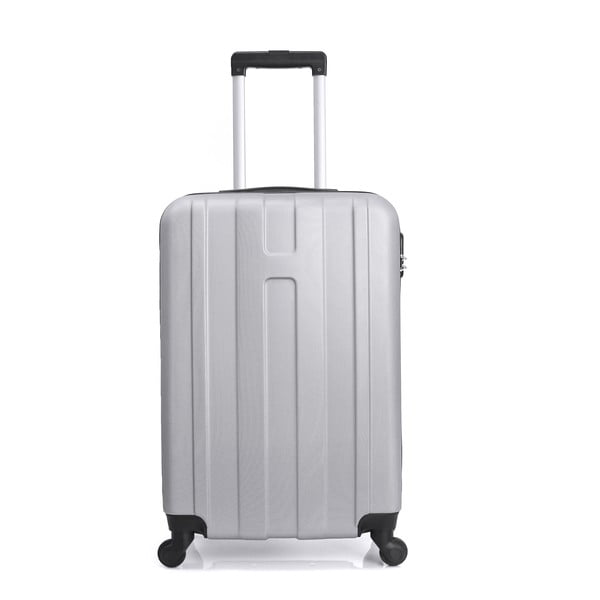 Sada 3 bílých cestovních kufrů na kolečkách Hero Atlanta