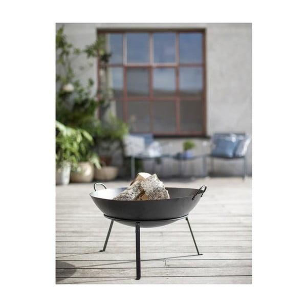 Černé ocelové přenosné ohniště A Simple Mess Torino Black, ⌀60cm