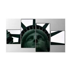 4dílný obraz Statue of Liberty, 50x100 cm