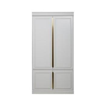 Dulap din lemn masiv de pin BePureHome, lățime 62 cm, alb