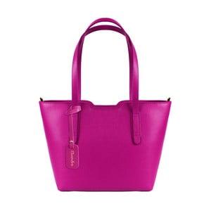 Fuchsiová kožená kabelka Maison Bag Alicia