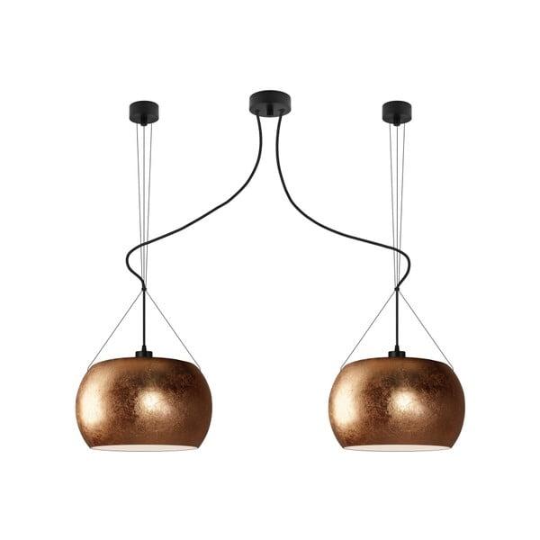 Dvojité světlo MOMO Elementary copper/black/black