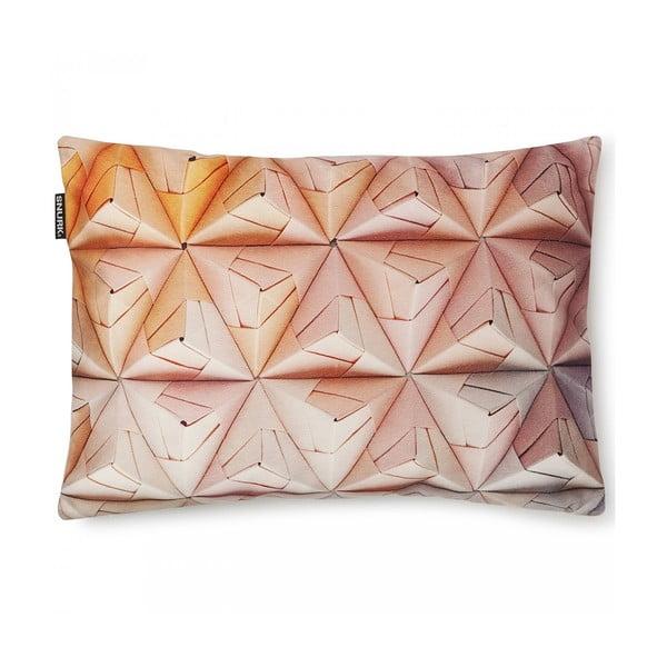 Růžový povlak na polštář Snurk Geogami, 35x50cm