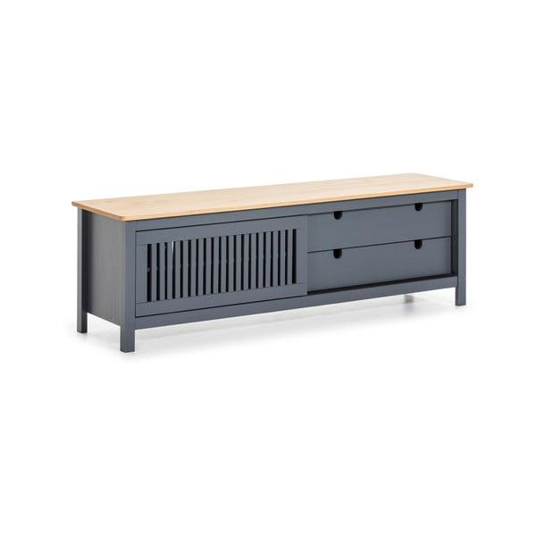 Sivý drevený TV stolík Marckeric Bruna