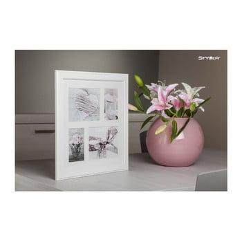 Ramă foto pentru 4 fotografii Styler Malmo, 39x39cm, alb de la Styler