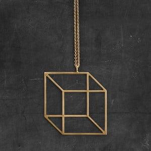 Náhrdelník Cube Gold z kolekce Geometry