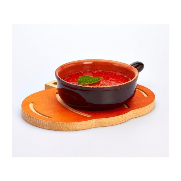 Bukové krájecí prkénko Bisetti Pumpkin, 31x27 cm