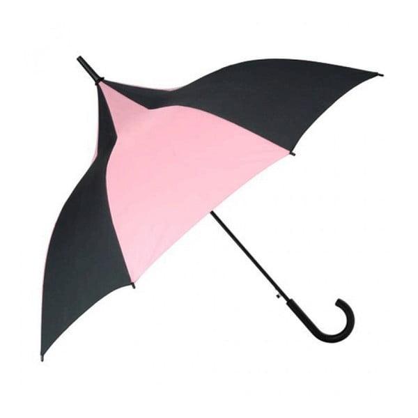 Deštník Candice, black/pink