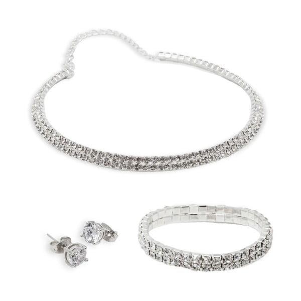 Set náušnic, náhrdelníku a náramku Versalles