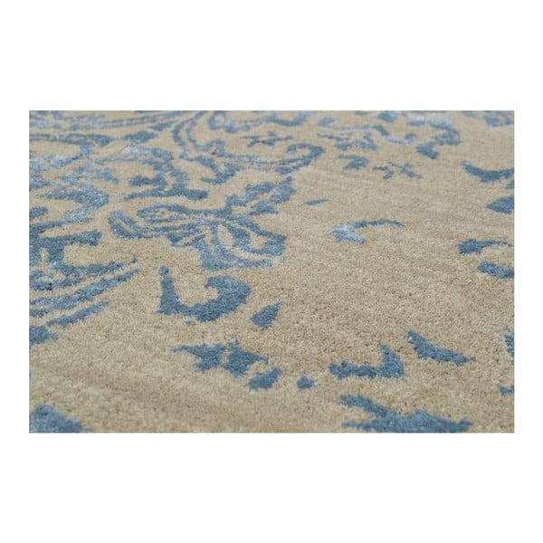 Ručně tuftovaný modrý koberec New Jersey, 153x244cm