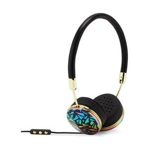 Černá sluchátka s detaily ve zlaté barvě Frends Layla Mosaic
