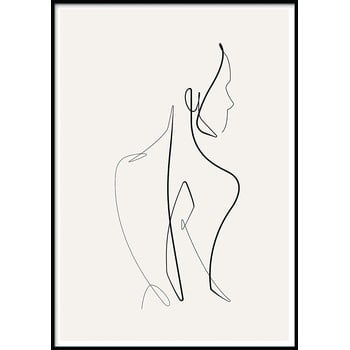 Poster cu ramă pentru perete SKETCHLINE/NAKED, 70 x 100 cm imagine