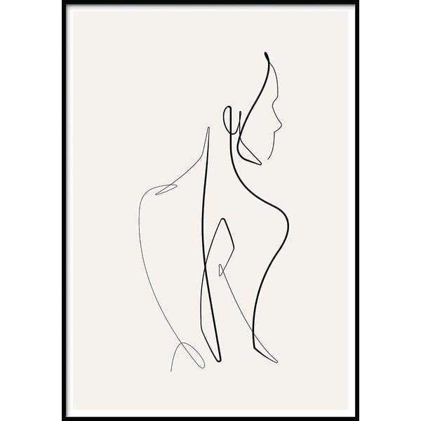 Plakat w ramie SKETCHLINE/NAKED, 50x70 cm