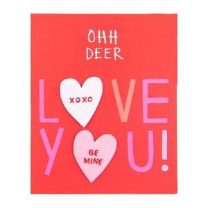 Sada 3 nažehlovacích záplat Ohh Deer Conversation Hearts