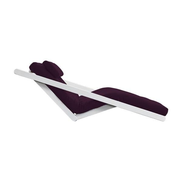 Dvoumístná variabilní lenoška Karup Figo White/Purple Plum