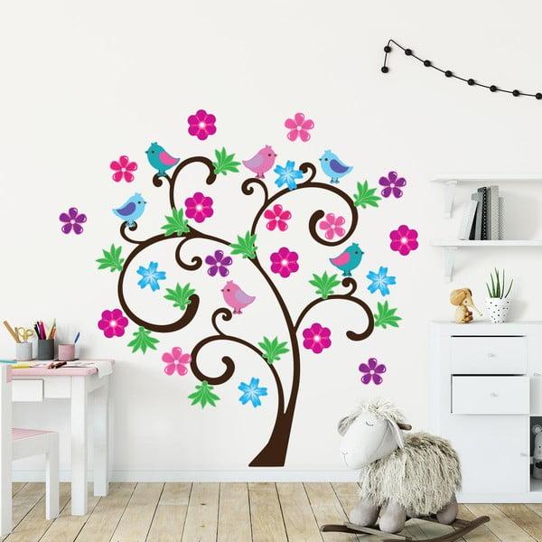 Sada detských samolepiek na stenu Ambiance Spring Tree