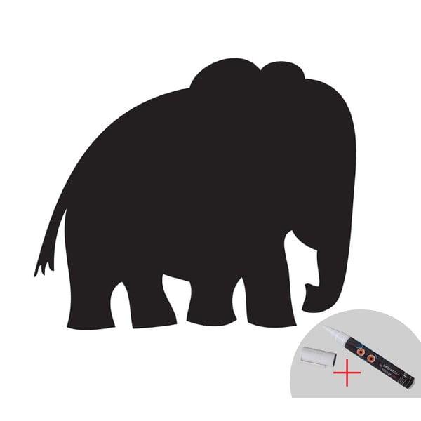 Tabulová samolepka Elephant + bílý fix