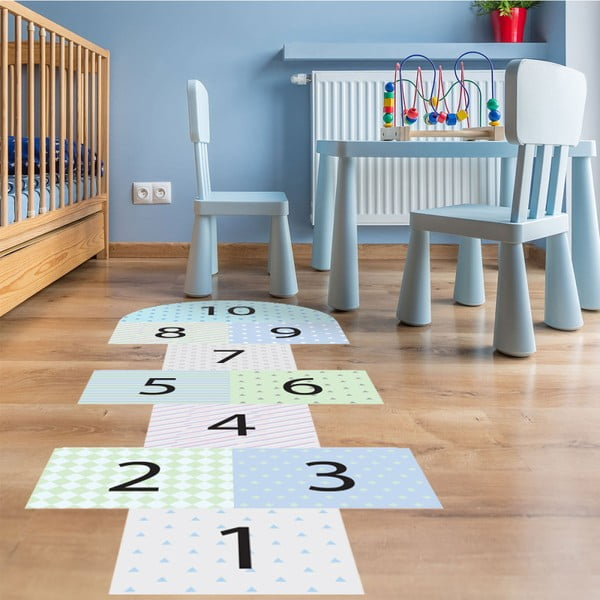Adhezivní vinylový dětský koberec Ambiance Hopscotch
