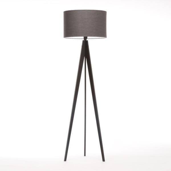 Stojací lampa Artist Dark Grey Linnen/Black Birch, 125x42 cm